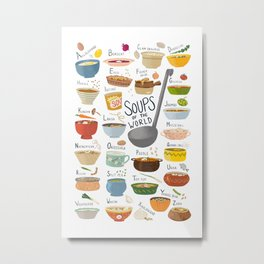 Soups of the World Metal Print