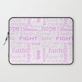 Breast Cancer - White and Pink Laptop Sleeve