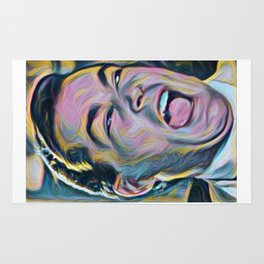 Ray Liotta Laugh mafia gangster movie Goodfellas painting Rug