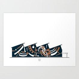 Talleres Facultad de Ciencias Art Print