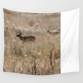 Autumn - Deer in Tennessee Wall Tapestry