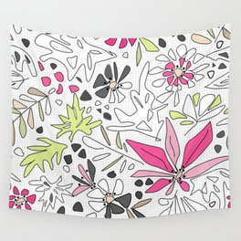 Retro floral pattern Wall Tapestry