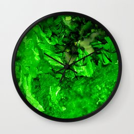Green Envy Wall Clock