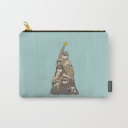Christmas Tree  Sloths Carry-All Pouch