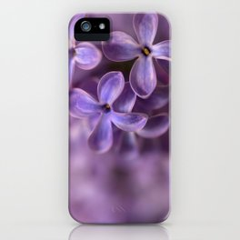 Fresh Lilac flowers iPhone Case