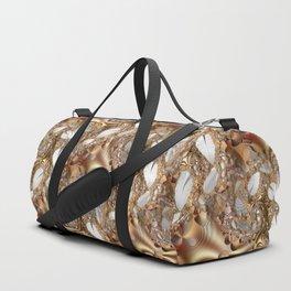 Silver leaves on golden glow -- A fractal landscape Duffle Bag