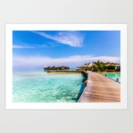 To My Bungalow in the Maldives Art Print