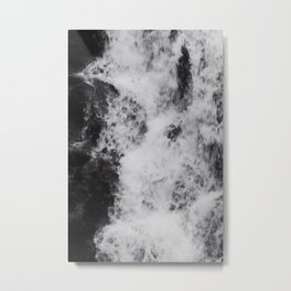 Foaming Waterfall Pareidolia Metal Print