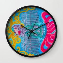 Underwater Smoking Wall Clock