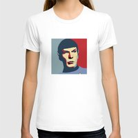 spock T-shirts featuring Spock by Blueshift
