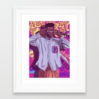90s Framed Art Prints featuring 80/90s - GW by Mike Wrobel