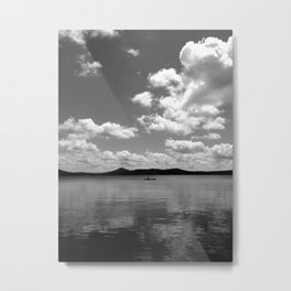 Single Canoe Metal Print