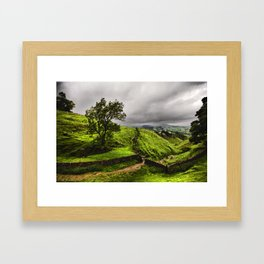 Top Of Cavedale. Derbyshire in The Peak District National Park. Framed Art Print