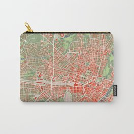 Munich city map classic Carry-All Pouch