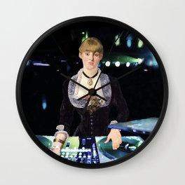A DJ at the Folies-Bergère Wall Clock