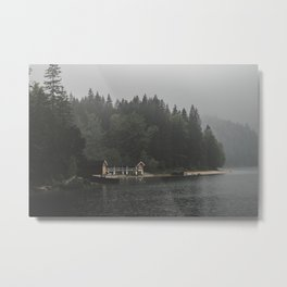 Foggy mornings at the lake II - landscape photography Metal Print