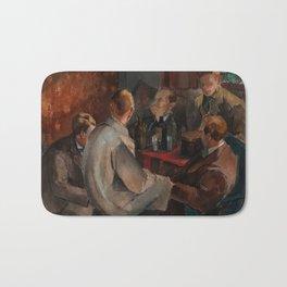 Alvar Cawen - Members of The November Group - 1921, man, seating, art Bath Mat