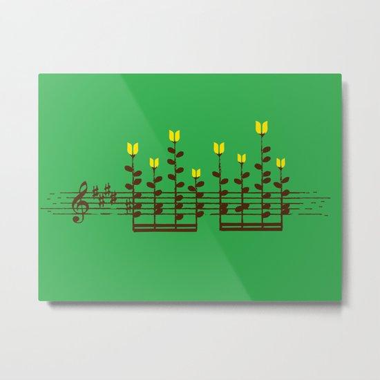 Music notes garden Metal Print