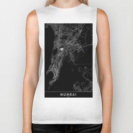 Mumbai Black Map Biker Tank