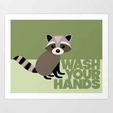 Kids' Bathroom - Wash Your Hands Art Print