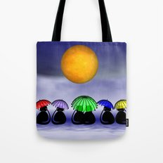 mooncats -7- Tote Bag