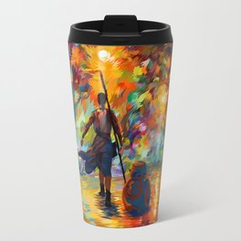 The girl with droid abstract iPhone 4 4s 5 5c 6 7, pillow case, mugs and tshirt Travel Mug
