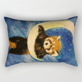 Red Panda Stars Rectangular Pillow