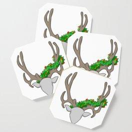 Christmas Reindeer Wreath Coaster