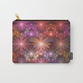 Bed Of Flowers Abstract, Fractal Art Carry-All Pouch