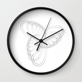 """""""Fly Collection"""" - Abstract Minimal Letter J Print Wall Clock"""