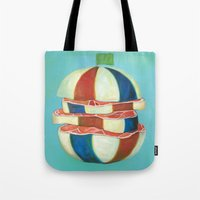 dragon ball Tote Bags featuring Ball by colorlabo