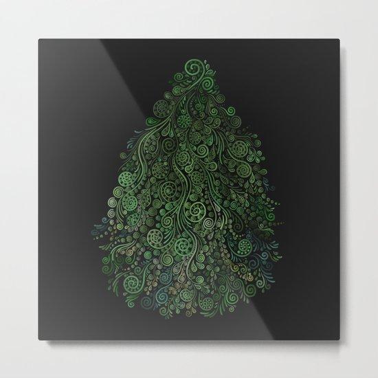 Fantasy Tree Greenery Metal Print