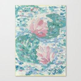 Ninfee. Waterlilies. Nynphéas Canvas Print