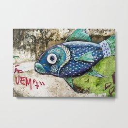 Fisheye Metal Print