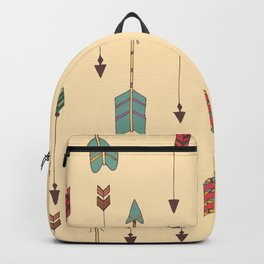 Bohemian hand drawn arrows, 01 Backpack