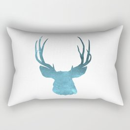Deer head and stag simple illustration Rectangular Pillow