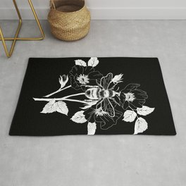 Save the bees black Rug