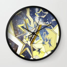 A Very Starry Night Wall Clock