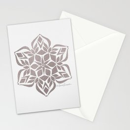 Silver Snowflake Stationery Cards