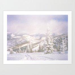 Powder Day -Vail, Colorado Art Print