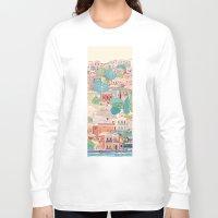 greece Long Sleeve T-shirts featuring symi island greece by Selgun Turkoz