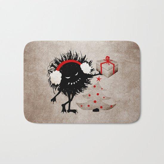 Evil Bug Gives Christmas Present Bath Mat