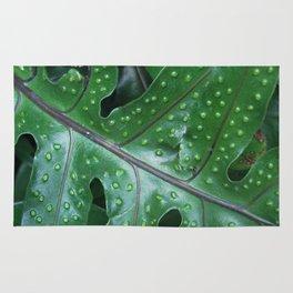 polka dot leaf Rug