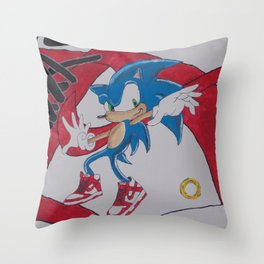 """""""Dunkin'"""" Sonic Throw Pillow"""