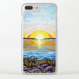 Sunset Over Broad Bay Clear iPhone Case