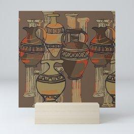 Columns & Pots By Danae Anastasiou Mini Art Print