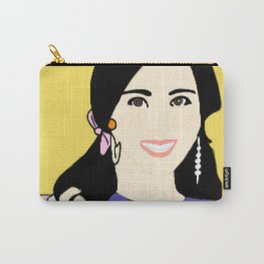Knock Knock! Mina Yellow Carry-All Pouch