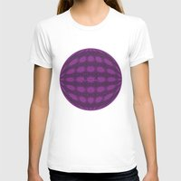 globe T-shirts featuring Purple globe by Avril Harris