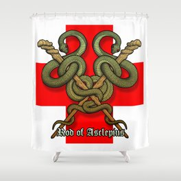 Rod of Asclepius4 Shower Curtain