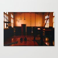 gym Canvas Prints featuring Gym by Flashbax Twenty Three